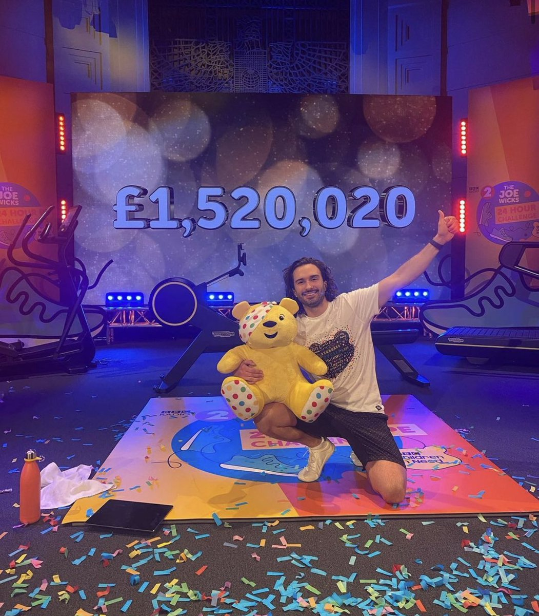 OMG we did it 🎉 What an incredible 24 hours 🥵 I'm absolutely broken but we raised an unbelievable amount of money for @BBCCiN and we're going to help so many people 💛 THANK YOU to everyone that donated or sent me a message. I could not have done this without you ❤️ @BBCRadio2