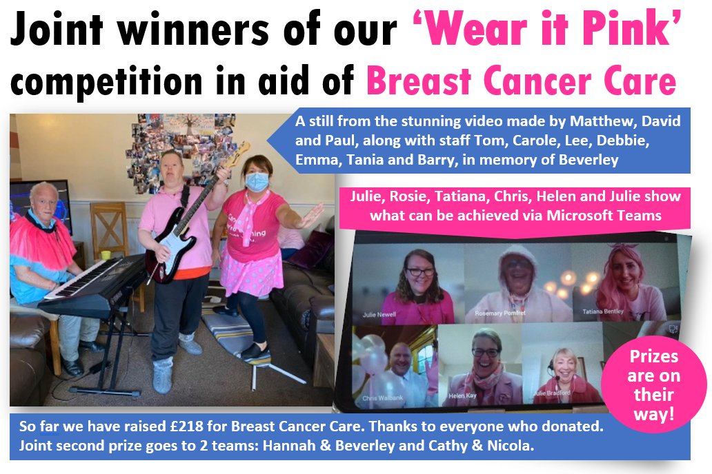 Congratulations to the winners of our #WearItPink competition. So far we have raised £218 for Breast Cancer Now - there's still time to donate here:  #communitysupport #OneFylde