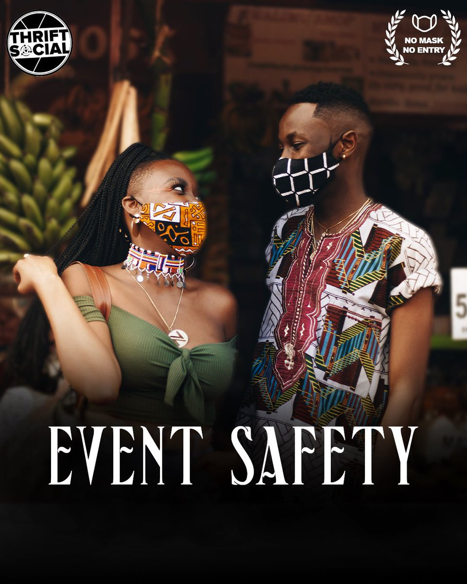 """Thrift Social Nairobi on Twitter: """"We want to make sure you are safe first!  At the first ever socially distanced ThriftSocialNairobi we will ensure you  are all in safe spaces through our"""