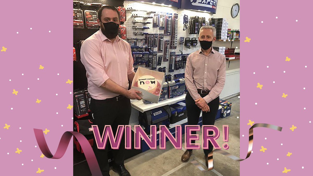 Winner, winner, cake for dinner! 😃🍰🎉 Part of our @BreastCancerNow #wearitpink fundraising, a cake (infused with pink gin!) was up for grabs in our staff raffle. Presented with his prize by Keith Hamilton, well done to lucky winner Aaron Carson! 👏👏🎉 #fundraising #jhgroup
