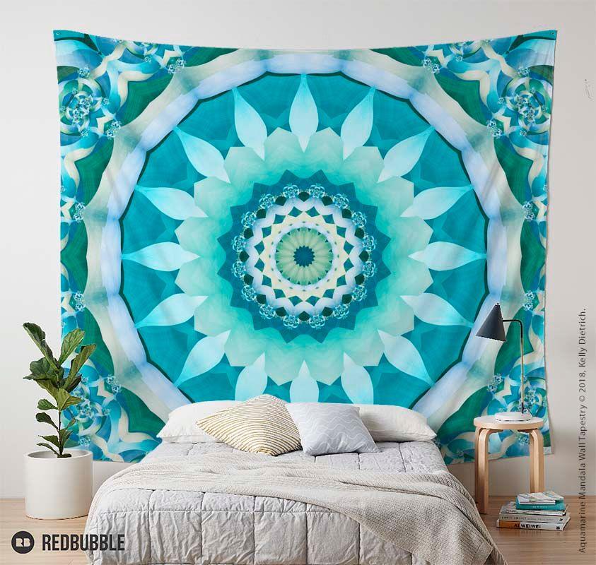 Aquamarine Mandala Wall Tapestry https://t.co/7HXh33M5nG  #mandala #mandalas #tapestry #tapestries #colorfulhome #boho https://t.co/eqCskL6WQq