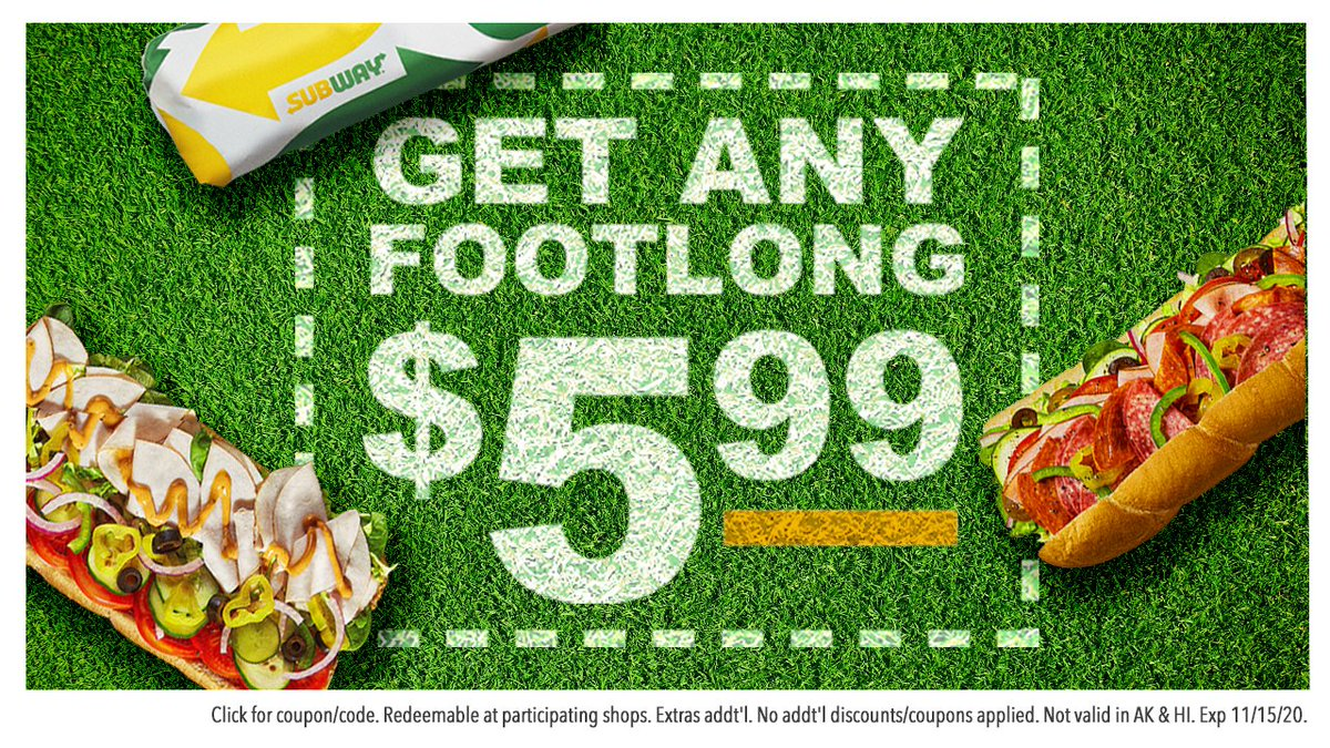 Subway On Twitter Coupons On Coupons On Coupons Hit The Link To See What Other Deals We Have For You Https T Co Q1z10rfo5m