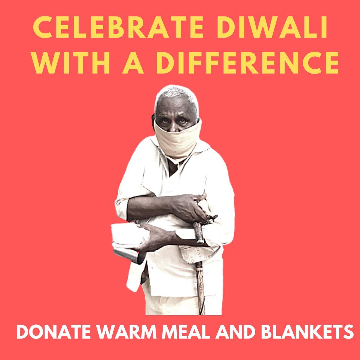 This Diwali, spread the light of happiness and hope to the homeless.   Donate a warm meal and blankets.   Link    Pls do share & rt @virendersehwag @BajpayeeManoj @KapilSharmaK9 @hvgoenka @suhasinih @Smita_Sharma @ARanganathan72 @rajeshkalra @cricketaakash