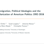 Image for the Tweet beginning: Immigration increases polarization in the