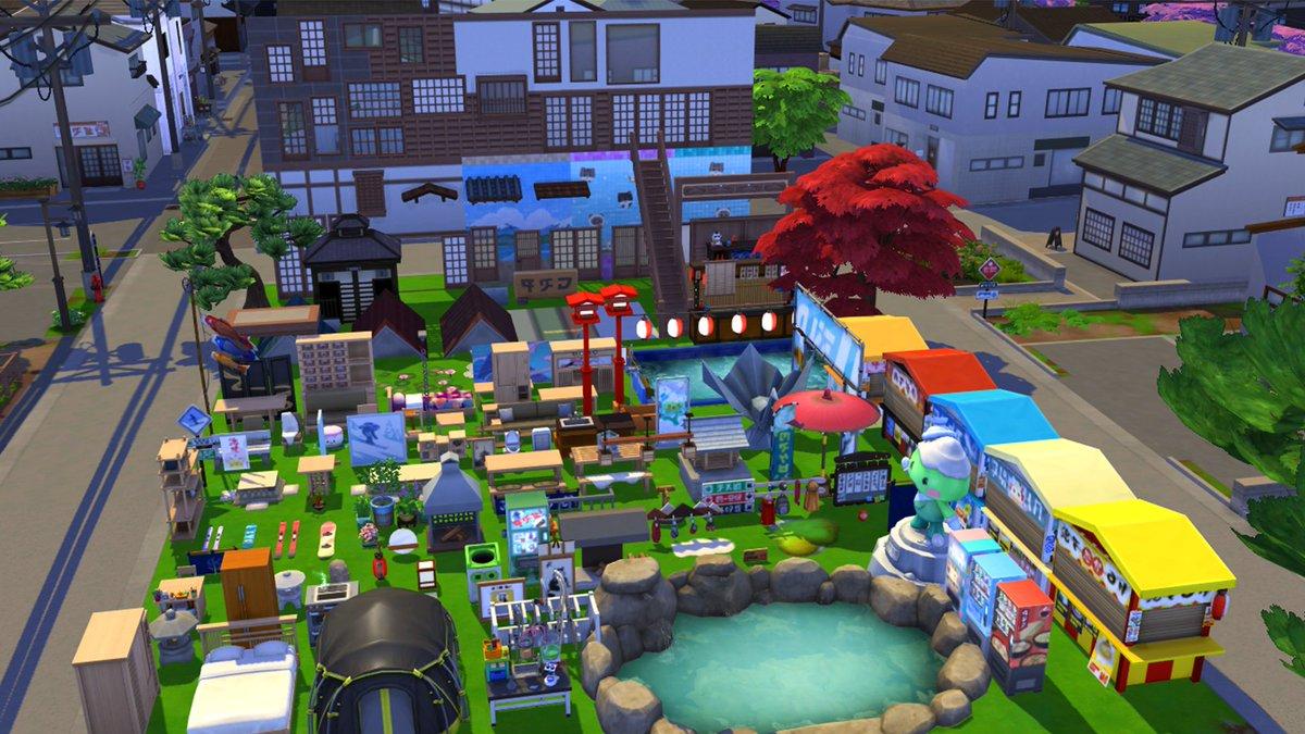 """CreadoresSims! 🎏 on Twitter: """"¡Estos son todos los objetos que vienen en  el Modo Comprar y Construir de Los Sims 4 Escapada en la nieve! ✨😱⛩️ ¿Qué  les parecen? 👇👇👇… https://t.co/cSW0iZsO8A"""""""