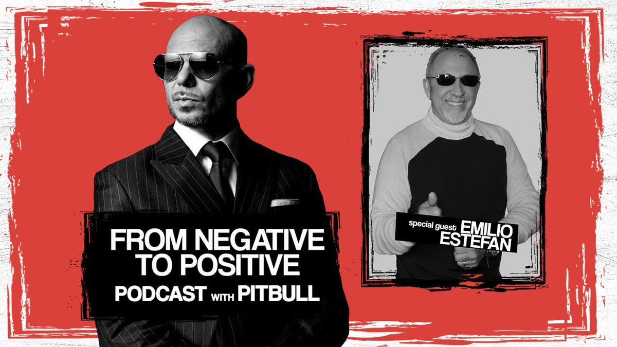"#NEWS The brand new @Pitbull's Podcast ""From Negative to Positive"" featuring @EmilioEstefanJr is now also AVAILABLE on YouTube! #FromNegativeToPositive #MrWorldwide #Pitbull ⠀⠀⠀⠀⠀⠀⠀⠀⠀ Watch it here:"
