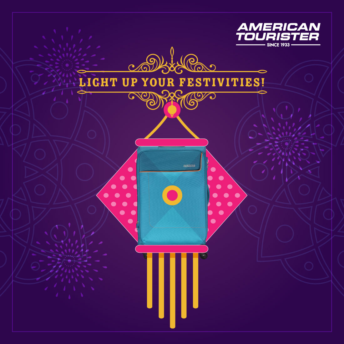 Celebrate this joyous festival with family and friends and plan countless future travels together! #diwali #diwali2020 #AmericanTourister