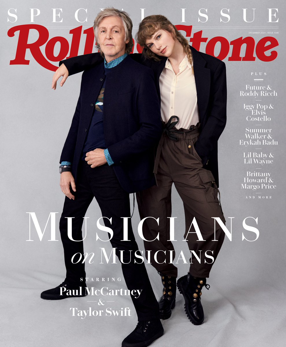 It only took one day to confirm what I had suspected for years: Paul McCartney is the loveliest person alive. Thank you @RollingStone for making this happen. The Musicians on Musicians Issue is out now 🙏   📷: Mary McCartney