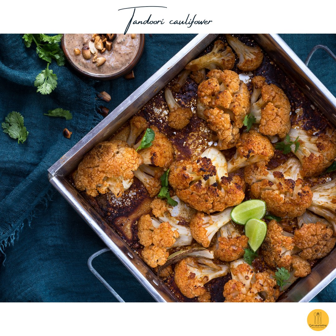 Tandoori cauliflower is a spin to roasted cauliflower, a popular thanksgiving side.  #food #thanksgiving #cauliflower #foodie #foodideas #foodmatters #thanksgivingprep #foodchoices #foodnerd #indianfood #foody  #foodoftheday #foodreviewer #foodpic #foodlover #veggiefood https://t.co/6ZZmMXbR9B