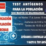 Image for the Tweet beginning: Test antígenos en San Martin