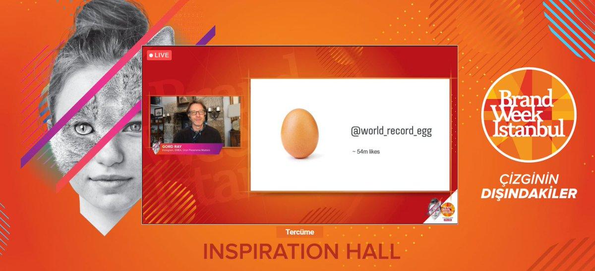 Gord Ray: Instagram'da bugüne dek en çok beğeni alan görselin bir ''yumurta'' görseli olduğunu biliyor muydunuz?😊#BrandWeek2020