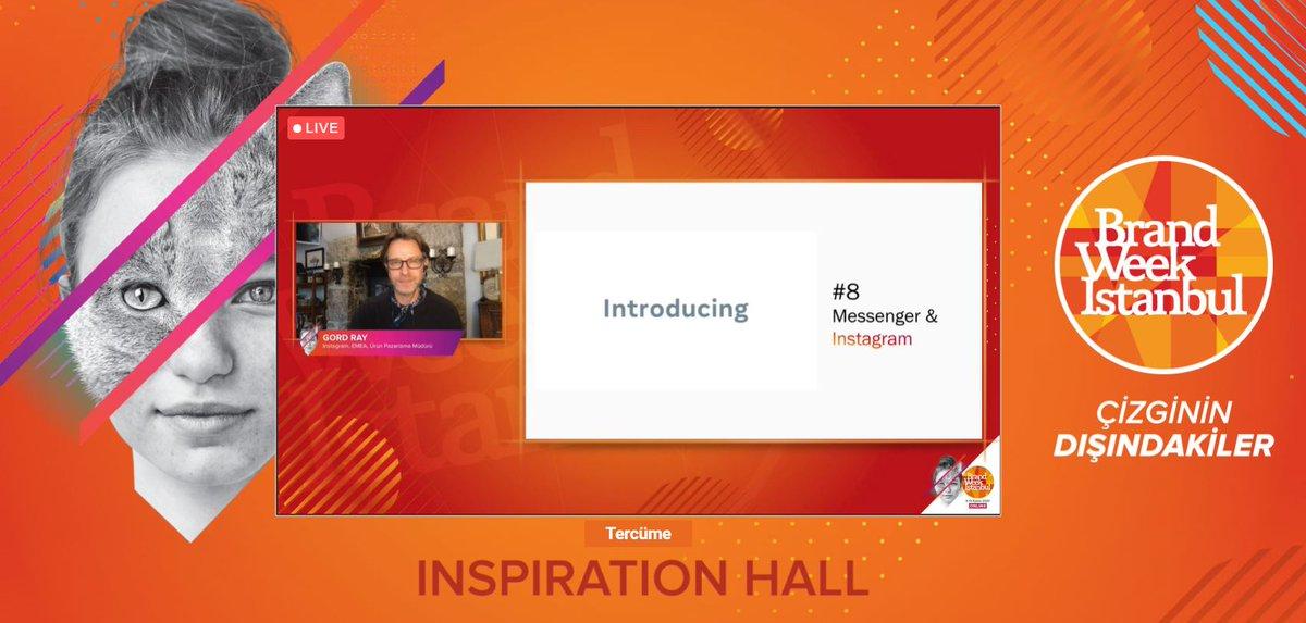 Gord Ray: Direct Message ile Instagram mesajlarının birleşmesi çok büyük bir adım, Instagram giderek gelişmeye devam ediyor. #BrandWeek2020
