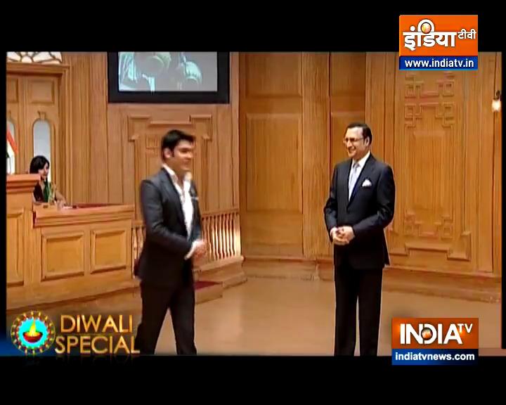 हाज़िरजवाबी में और बात-बात पर लोगों को हंसाने में कपिल शर्मा का जवाब नहीं. जब 'आप की अदालत' में आये थे, तो ऐसे ऐसे किस्से सुनाये कि दर्शक सुन कर लोट पोट हो गए  #AapKiAdalat आज रात 10 बजे इंडिया टीवी पर  @KapilSharmaK9 @indiatvnews
