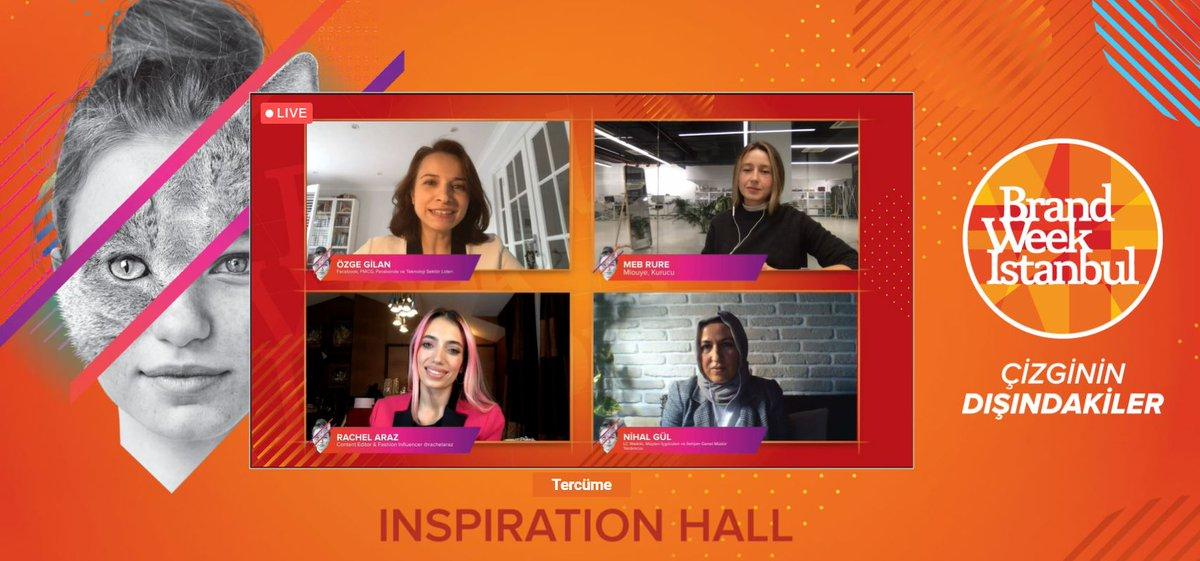 Özge Gilan'ın moderatörlüğünde ''Driving Results with Instagram'' oturumu Meb Rure, Content Editor & Fashion Influencer @rachelaraz ve Nihal Gül ile başladı. #BrandWeek2020