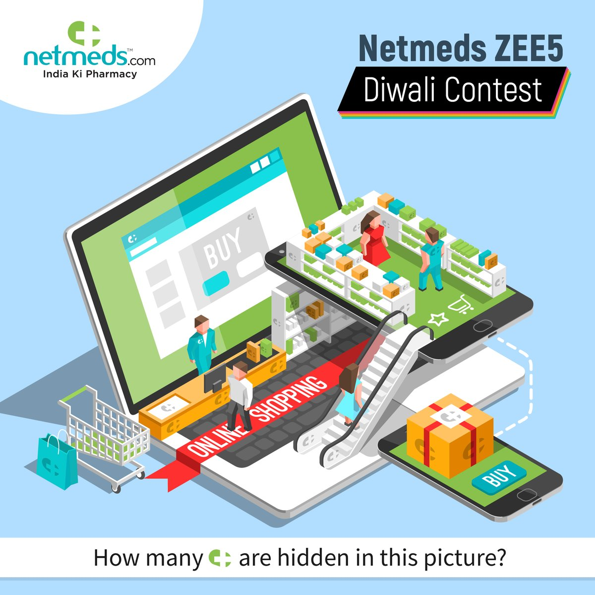 Netmeds ZEE5 Diwali #ContestAlert! 🪔  Comment with the number of Netmeds pills you can find in the image.   250 winners with the right answer stand a chance to win Free ZEE5 6 months subscription.   The contest ends at 11:59 PM on 15/11/2020  #Diwali #India #Health #Zee5 https://t.co/LBZbBVaHtO