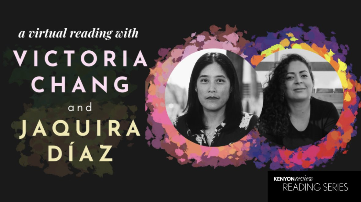 In connection with In My Time: A Narrative Space, @VChangPoet and @jaquiradiaz will be speaking Monday, November 16th at 6:00 pm EDT. We hope to see you all there! See our full Virtual Reading Series calendar here: kenyonreview.org/reading-series…