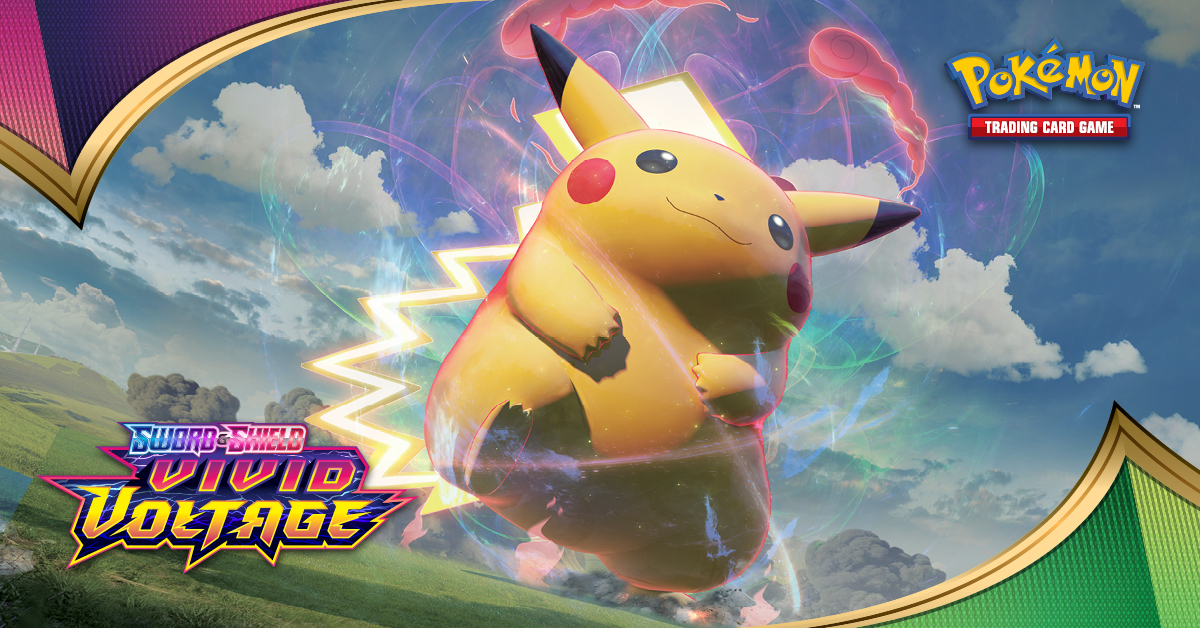 tweet-⚡ 'Vivid Voltage' is officially out today!Be sure to check TCGplayer for the best prices on the net!: https://t.co/m7x1abb4eiSame for Champion's Path: https://t.co/OMsjIMx5cG https://t.co/2602RaUJ3K