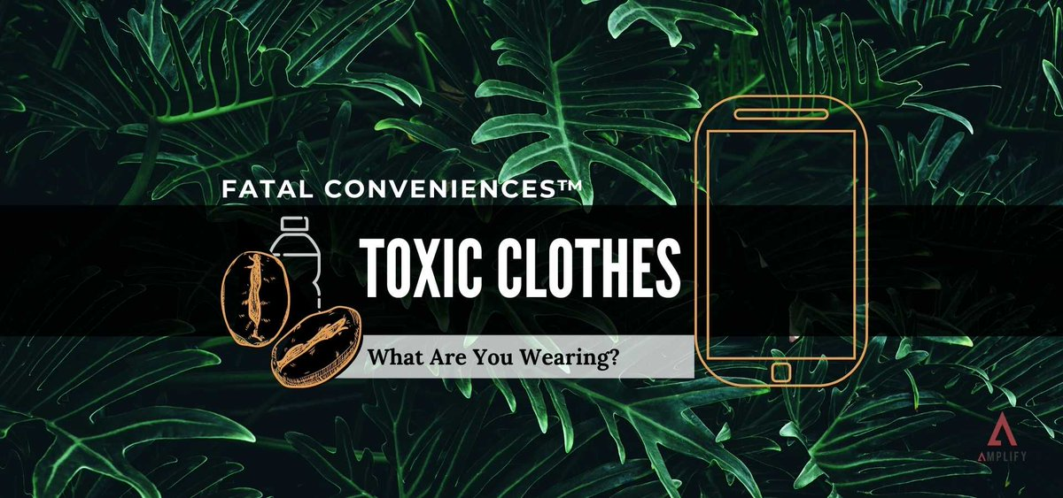 Your favorite jeans and hoodie are probably full of toxic chemicals👖   We need to shift our perspective on clothing and shell out more cash for natural, organic fibers.   Learn more on this Fatal Conveniences™ segment -