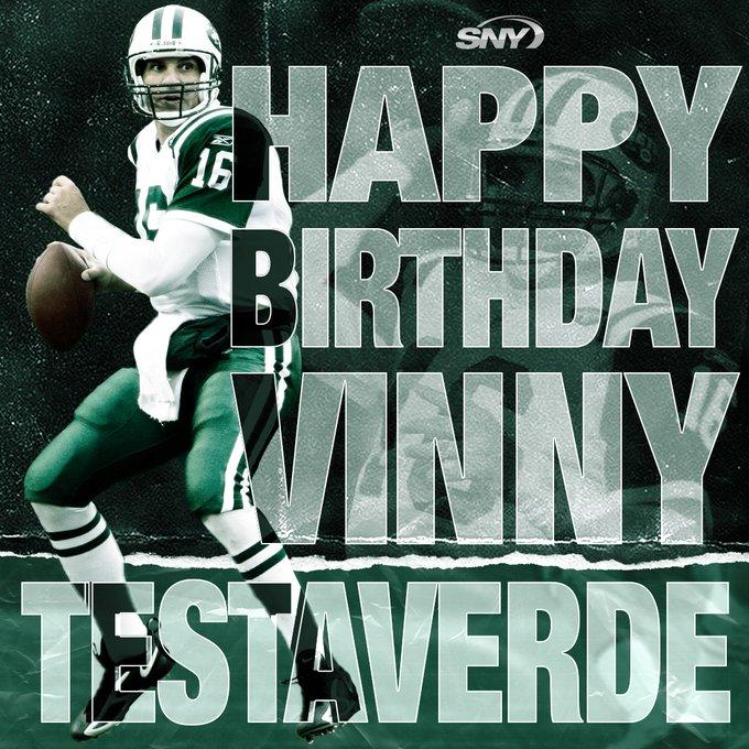 Happy 57th birthday to Vinny Testaverde