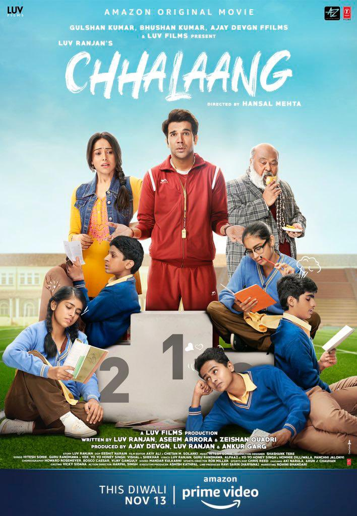 Best Wishes to talented actor @RajkummarRao & Team movie @ChhalaangFilm on the release. Major part of the movie was shot in #Jhajjar #Haryana . Such movies will definitely facilitate in boosting sports in the country! 🇮🇳 #CinemaWithMessage 👍🏻 #ChhalaangOnPrime @mehtahansal