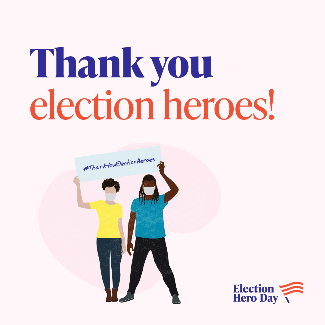 Over 80 million mail-in ballots requested. Millions more votes cast in person. Record voter participation is only possible thanks to the record number of people working to ensure our election ran smoothly. #ThankYouElectionHeroes