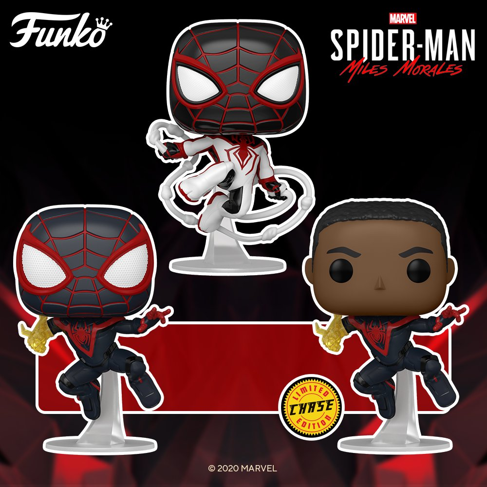 "We'll take one of each! 🕷️New ""Marvel's Spider-Man: Miles Morales"" @OriginalFunko figures! Pre-order:  #MilesMorales"