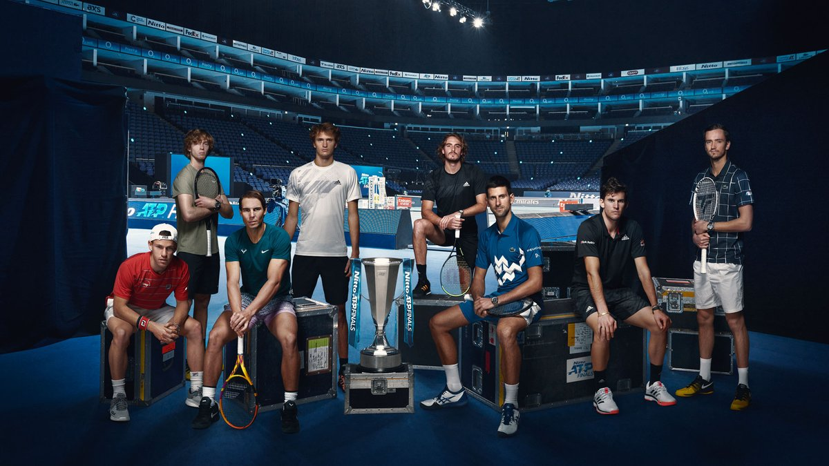 It's the moment we've been waiting for...  The official 2020 #NittoATPFinals singles photo! 😃 https://t.co/Ow6fQSpc6k