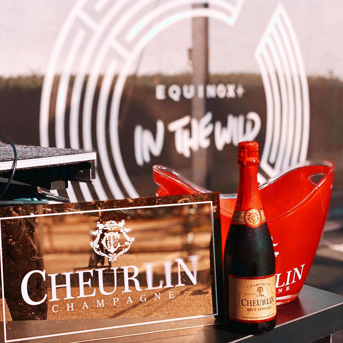 Had the best time at the socially distanced @equinox event! & nothing like champagne after a workout 😊 #Cheurlin1788 #CheurlinMoments 📸 @fyparties