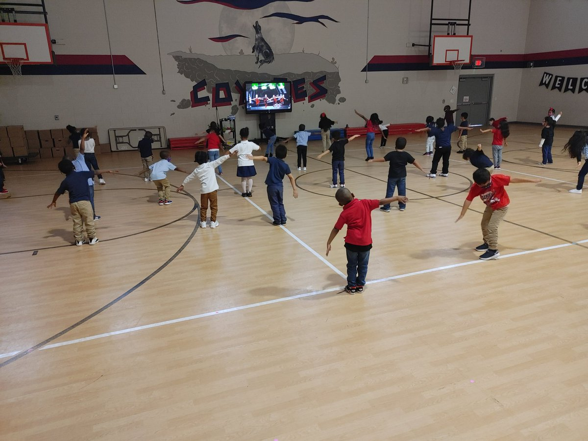 Kinder is having fun in Friday Specials PE! @McWhorterES