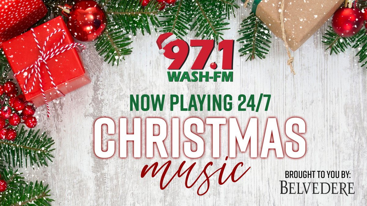 2020 When Play Christmas Music 97.1 97.1 WASH FM (@washfm) | Twitter