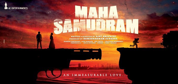 LAUNCHED! Poster of bilingual #MahaSamudram - An Immeasurable Love! What a captive poster!  Good wishes to the team! @ImSharwanand @aditiraohydari @Actor_Siddharth @ItsAnuEmmanuel @DirAjayBhupathi @AnilSunkara1 @AKentsOfficial   #SidK #SiddharthKannan #MahaSamudram #HappyDiwali