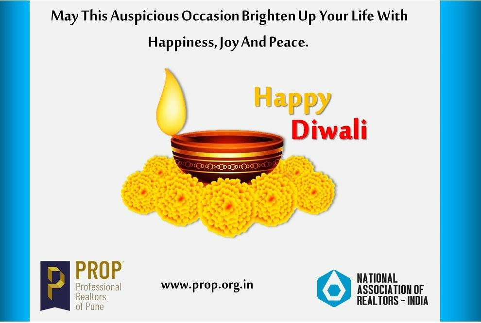 Happy Diwali ! . . . . . .  #Happy #Diwali! #FestivalGreetings #PROPWA #Professionalrealtorsofpunewelfareassociation #PROPAssociation #FastestGrowingRealtorsAssociationInIndia #BestAssociationInIndia #festivalgreetings #HappyNavratri #NARINDIA #NationalAssociationOfRealtors https://t.co/5WAYVL0BLc