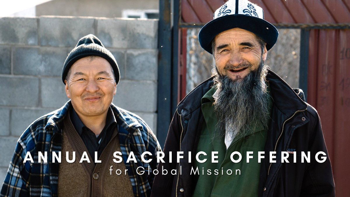Today is the #AnnualSacrificeOffering for frontline mission work to #unreachedpeople groups. Some experience persecution or poverty. Some live in cities and others in villages. To God, no person is ever unimportant. They are worth His very life.