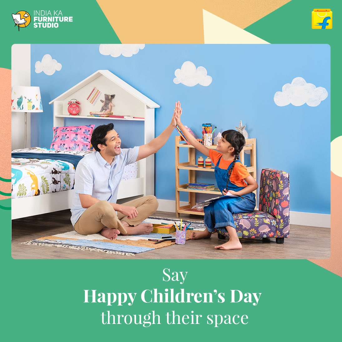 This Children's Day, wish your tiny tots with furniture that helps them grow happy! Shop exciting deals with the latest collections, at Flipkart Furniture, India Ka Furniture Studio.  Shop Now: