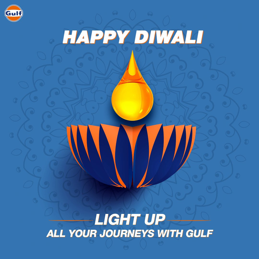 May all your drives spark joy on this special day. Happy Diwali! 🪔🎇  #GulfOilInternational #GulfOil #HappyDiwali #Diwali #HappyDiwali2020