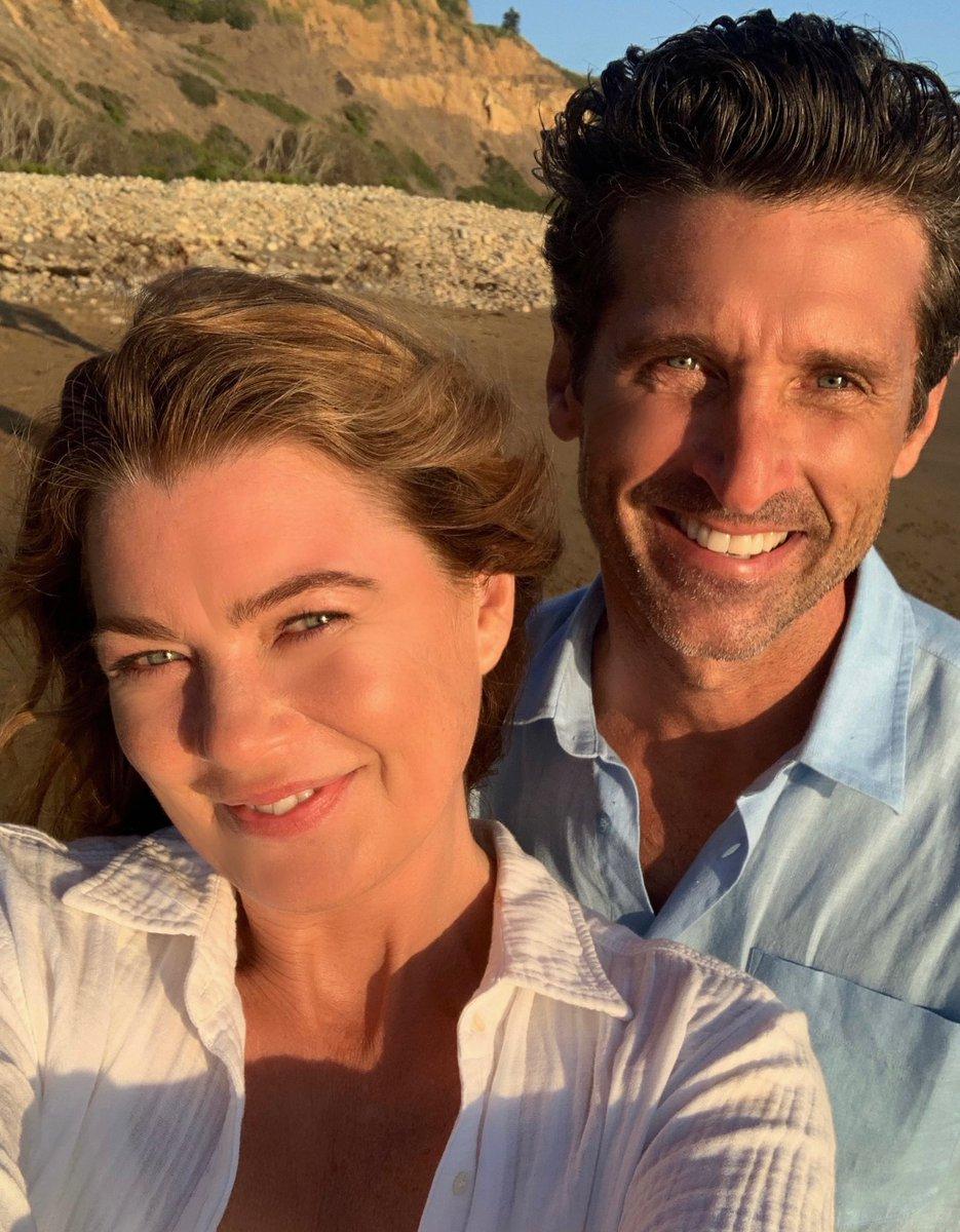 """Infos Séries on Twitter: """"Patrick Dempsey et Ellen Pompeo sur le tournage de la saison 17 De Grey's Anatomy.… """""""