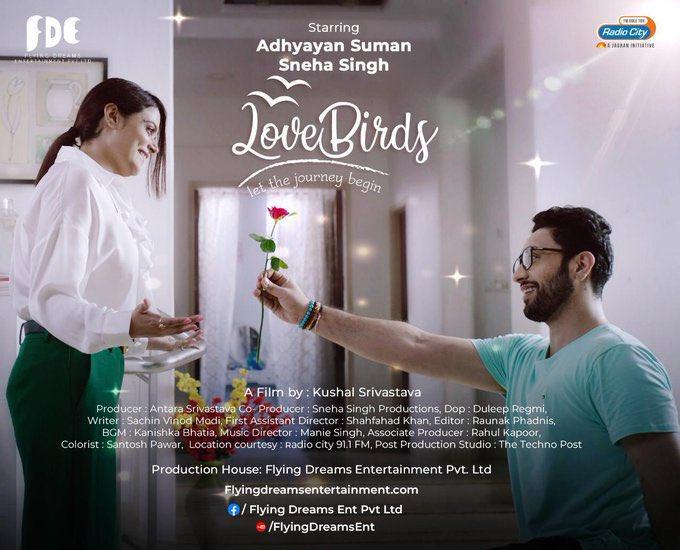 NEW Short Film #LoveBirds by #VodkaDiaries director @KushalSrivastav is now streaming on @YouTube  . Starring @AdhyayanSsuman #SnehaSingh @AntaraSri  . #SidK #SiddharthKannan #shortfilm