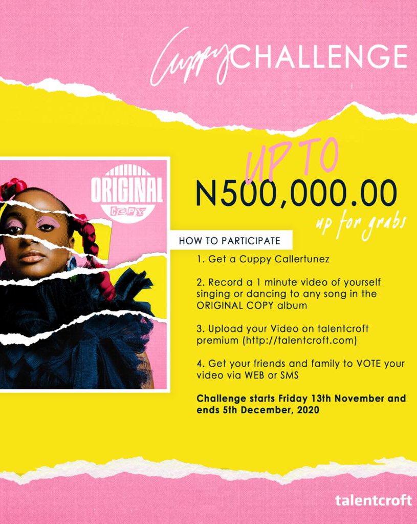 Cupcakes, who wants N500,000? 💸 #OriginalCopy 🧁🎵 https://t.co/4Ep2lBs4Yi