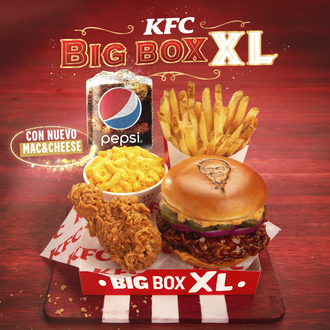 🎄Si todavía no te sentís lleno del espíritu navideño, la Big Box XL te puede ayudarahora con nuestro nuevo y delicioso Mac&Cheese 😎🧀 https://t.co/Tl7RG88x6H