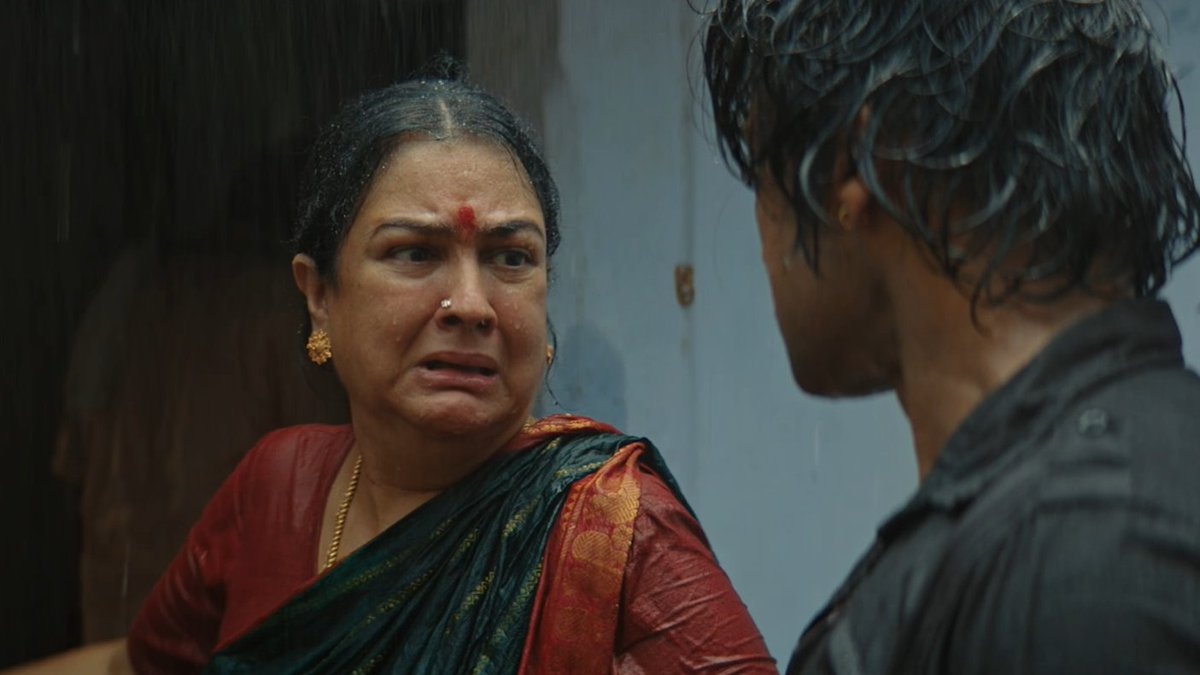Adhavadhu, to portray two polarisingly opposite characters (emotional mom + loosu amma) showing her 360° range like ABD is one. To pull off both equally convincingly is another.  Just a tweet to acknowledge the #GOAT actress of our times. #Urvashi #SooraraiPottru #MookuthiAmman
