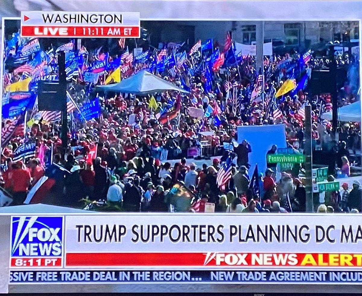 AMAZING!  More than one MILLION marchers for President @realDonaldTrump descend on the swamp in support.    Best base in political history — we LOVE you guys!!! ❤️🇺🇸