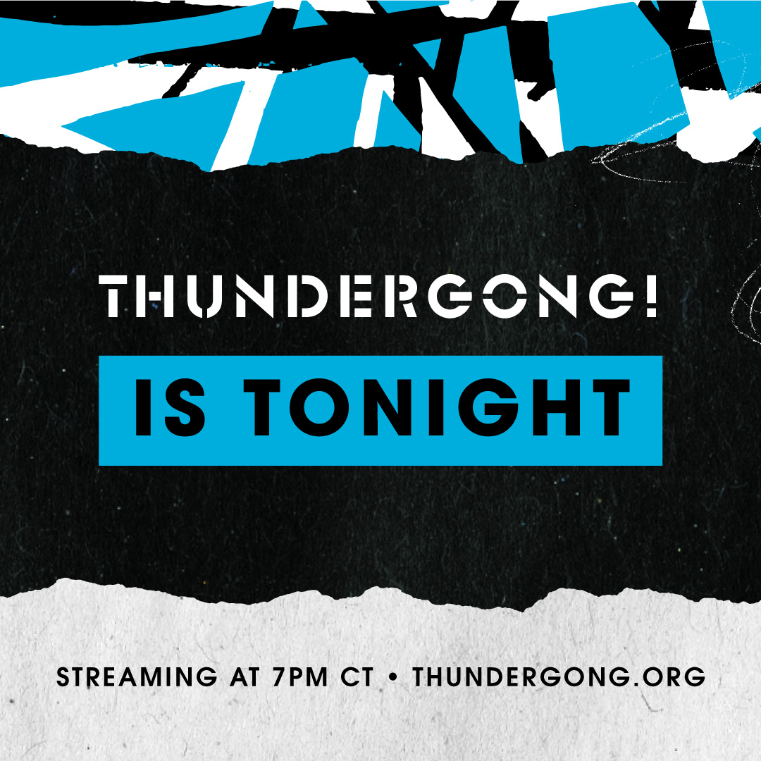 See you at 7pm CST tonight for a night of unforgettable musical performances and loads of laughs as we come together to help uninsured and underinsured amputees get the prosthetic limbs they need. Watch the show at  or on Facebook!   #Thundergong #GiveSteps
