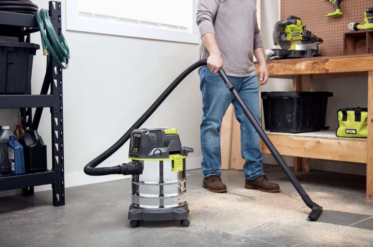 Introducing the newest addition to the Ryobi 18V ONE+ family - the 18V ONE+ Cordless 4.75 Gallon Wet/Dry Vacuum 🙌  here for a limited time only!