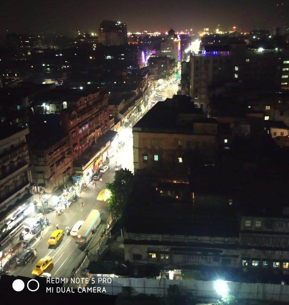 #SayNoToCrackers Happy Diwali.. Our city as on tonight ... @CPKolkata @KolkataPolice