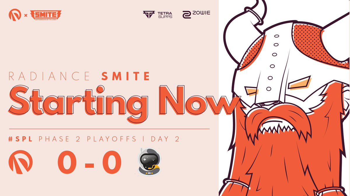 Radiance - The SMITE team is up next for the 2nd @SmitePro semifinals today against @SpacestationGG!   We're ready to blast off 🚀   📺 #RADWIN☀️