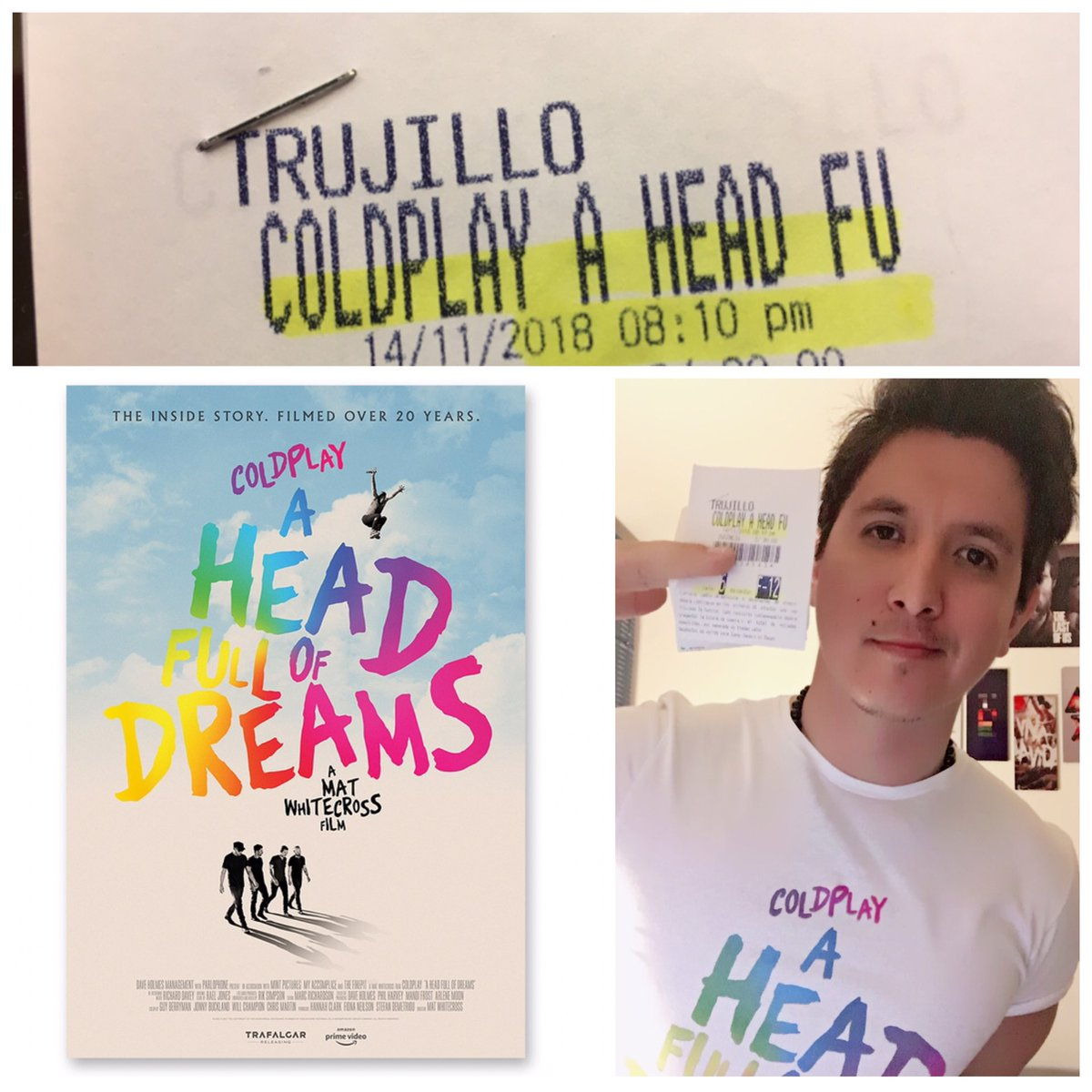 #OnThisDay 2 years ago , Perú =) #AHFODfilm @coldplayxtra @coldplay @MatWhitecross 🙌