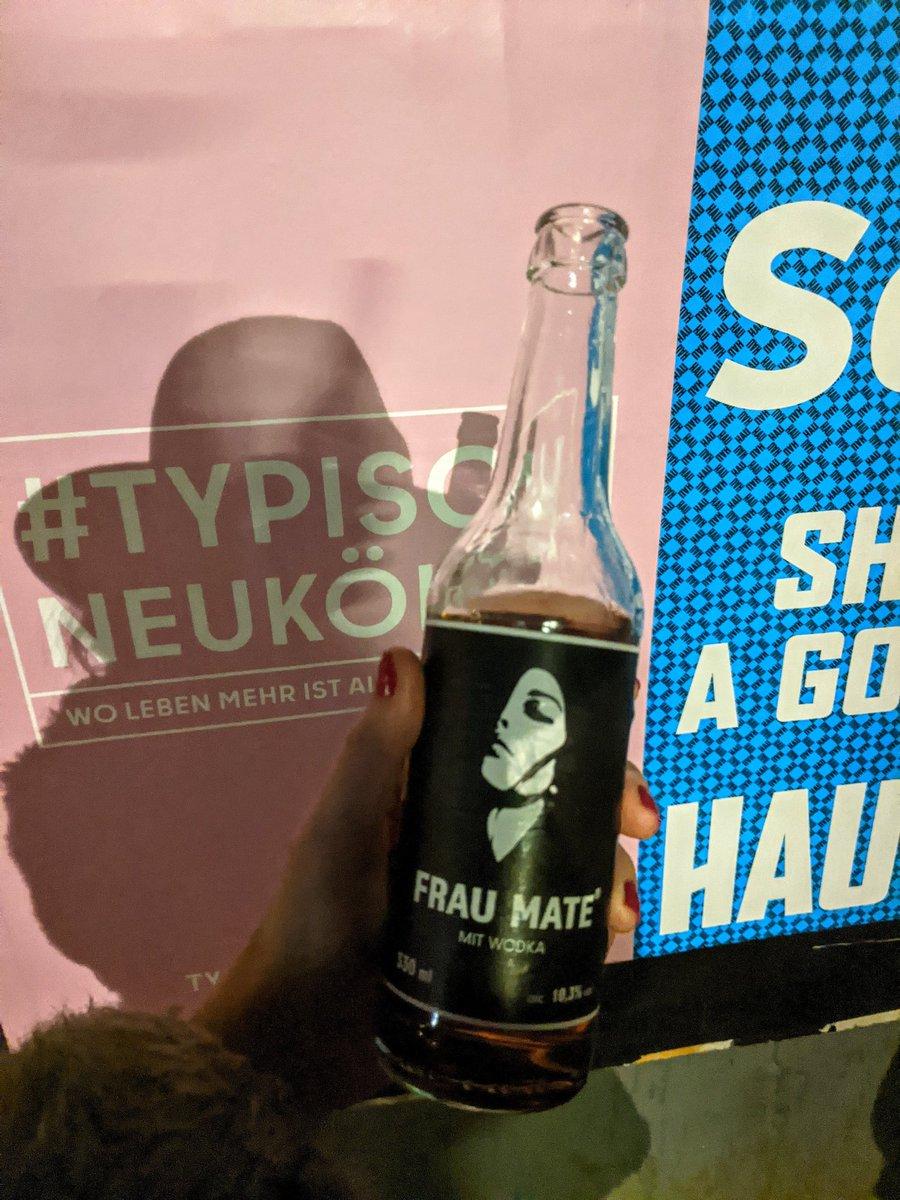 Frau Mate is like Club Mate except it's 27.5% vodka. Delicious, dangerous hacker juice ☠️