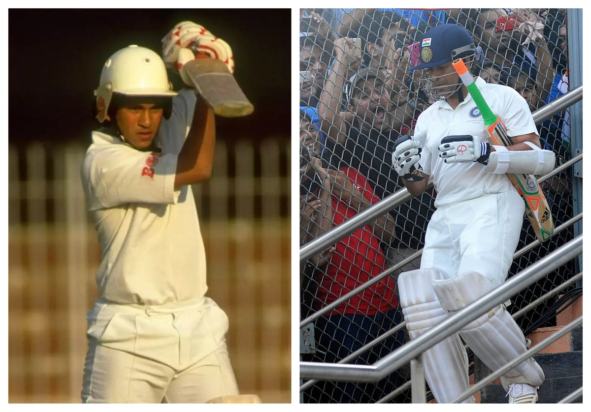 #OnThisDay 🗓️  1989 - @sachin_rt made his debut in international cricket  2013 - The legend walked out to bat for #TeamIndia 🇮🇳 one final time   Thank you for inspiring billions across the globe.  🙏👏