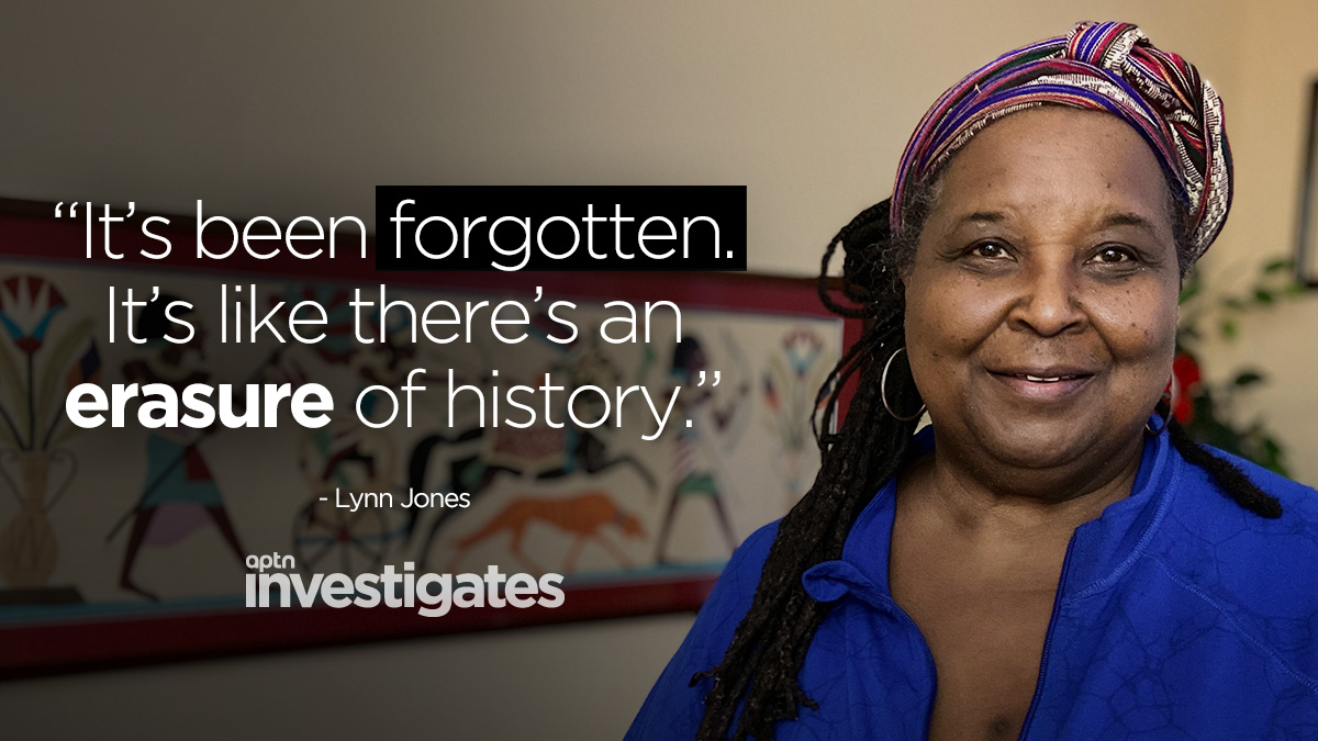 Human rights activist Lynn Jones says people forget that colonialism also marks the start of over two centuries of slavery in what's now Canada. APTN Investigates: Racism Lives Here Too – Watch here: aptnnews.ca/investigates/n…