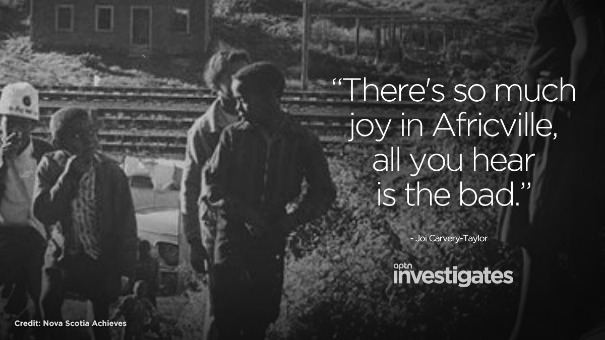 In 1964, the City of Halifax voted to demolish what it called 'the slums' of Africville, an African Nova Scotian community older than Canada. Joi Carvery-Taylor's family is from Africville and she feels its loss. Latest episode of APTN Investigates: aptnnews.ca/investigates/n…